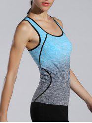 Space-Dyed Ombre Sporty Tank Top -
