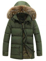 Furry Hood Zip Up Padded Coat