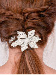 Filigree Faux Crystal Flower Hair Comb