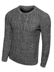 Crew Neck Argyle Knit Blends Long Sleeve Sweater -