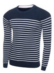 Crew Neck Stripe Long Sleeve Sweater