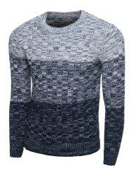 Crew Neck Ombre Long Sleeve Knit Blends Sweater