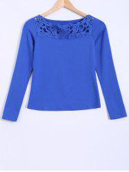 Openwork Lace Slimming Blouse -