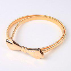 High Polished Bowknot Flat Belly Chain -