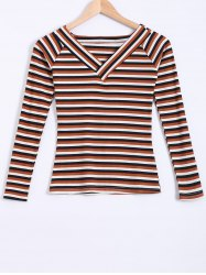 Color Block Striped Knitwear
