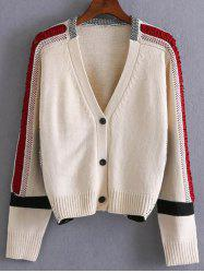 Colorblock Single Breasted Cardigan -