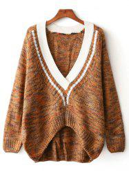 Asymmetrical Jacquard Pullover Cable Sweater -