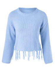 Fringed Long Sleeve Pullover Knitwear -