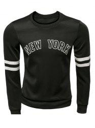 Varsity Striped New York Graphic Sweatshirts