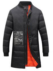 Patched Rib Cuff Zip Coat Up Quilted -
