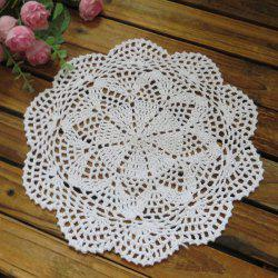 Retro Handmade Floral Crochet Table Placemat -
