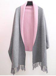 Winter Tassel Lapel Sleeved Cape Pashmina -