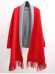 Winter Tassel Lapel Sleeved Cape Pashmina