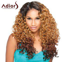 Long Side Parting Fluffy Curly Double Color Adiors Synthetic Wig -