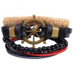 Rudder Beaded Faux Leather Bracelets