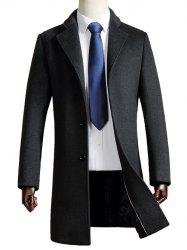 Turn Down Collar Woolen Blend Coat
