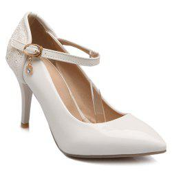 Patent Leather Sequin Pointed Toe Pumps