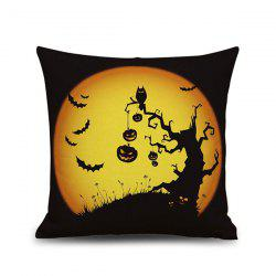 Horrored Halloween Night Printed Sofa Cushion Pillow Case - BLACK