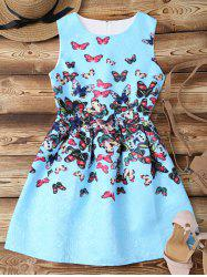 Mini Butterfly Jacquard Flare Dress -