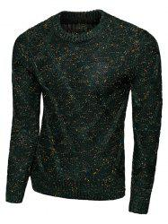 Rhombus Pattern Long Sleeve Crew Neck Sweater