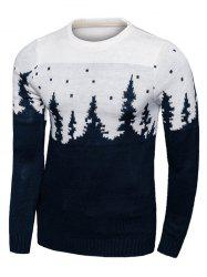 Forest Pattern Long Sleeve Crew Neck Sweater -