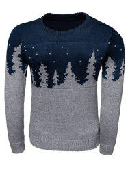 Forest Pattern Long Sleeve Crew Neck Sweater