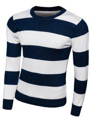 Striped Long Sleeve Crew Neck Knitwear -
