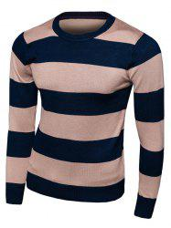 Striped Long Sleeve Crew Neck Knitwear