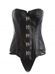 Steel Boned Lace Up Metallic Corset -