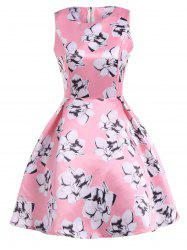 Vintage Floral Swing High Low Dress -