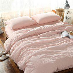 Home Textile Washable Cotton Fitted Sheet 4PCS Bedding Set