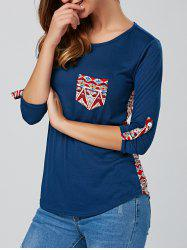 Back Print  Long Sleeve Tee