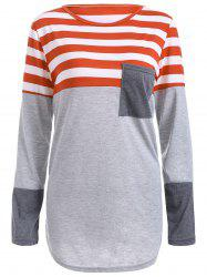 Striped Pocket Tunic T-Shirt