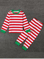 Kids Striped Christmas Pajamas Set