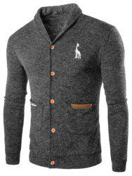 Casual Turn Down Collar Cardigan