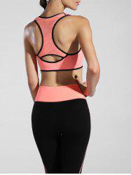 Découpez Out Racerback Sporty Bra - Orange Rose