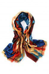 Innocence Doodle Fringed Wool Scarf