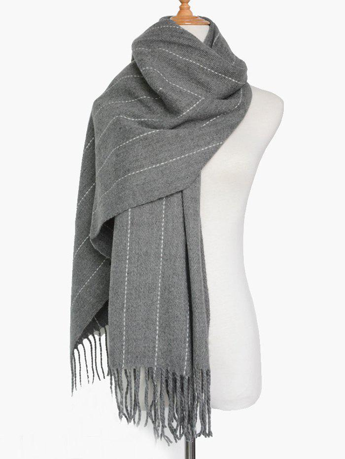how to make a vertical stripe scarf