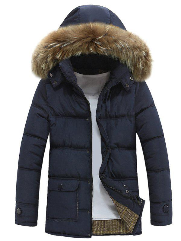 Outfits Furry Hood Zip Up Padded Coat