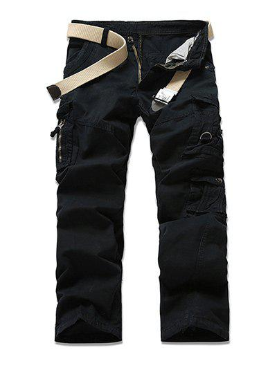 Outfit Zipper Fly Multi-Pocket Design Cargo Pants
