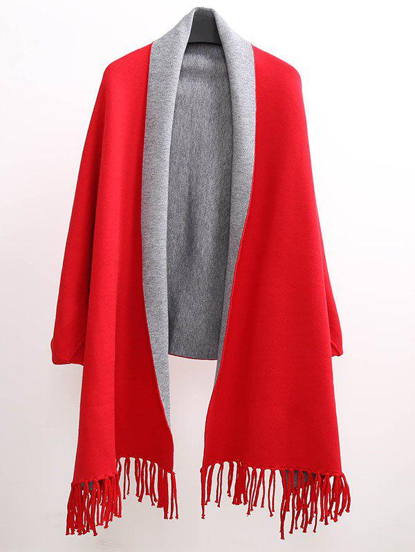 Unique Winter Tassel Lapel Sleeved Cape Pashmina
