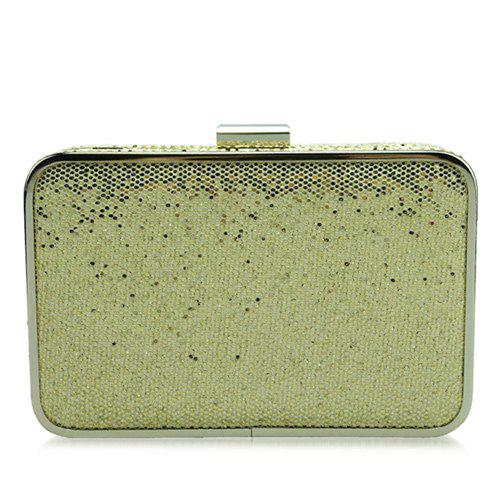 Store Glitter Metal Trimmed Sequins Evening Clutch
