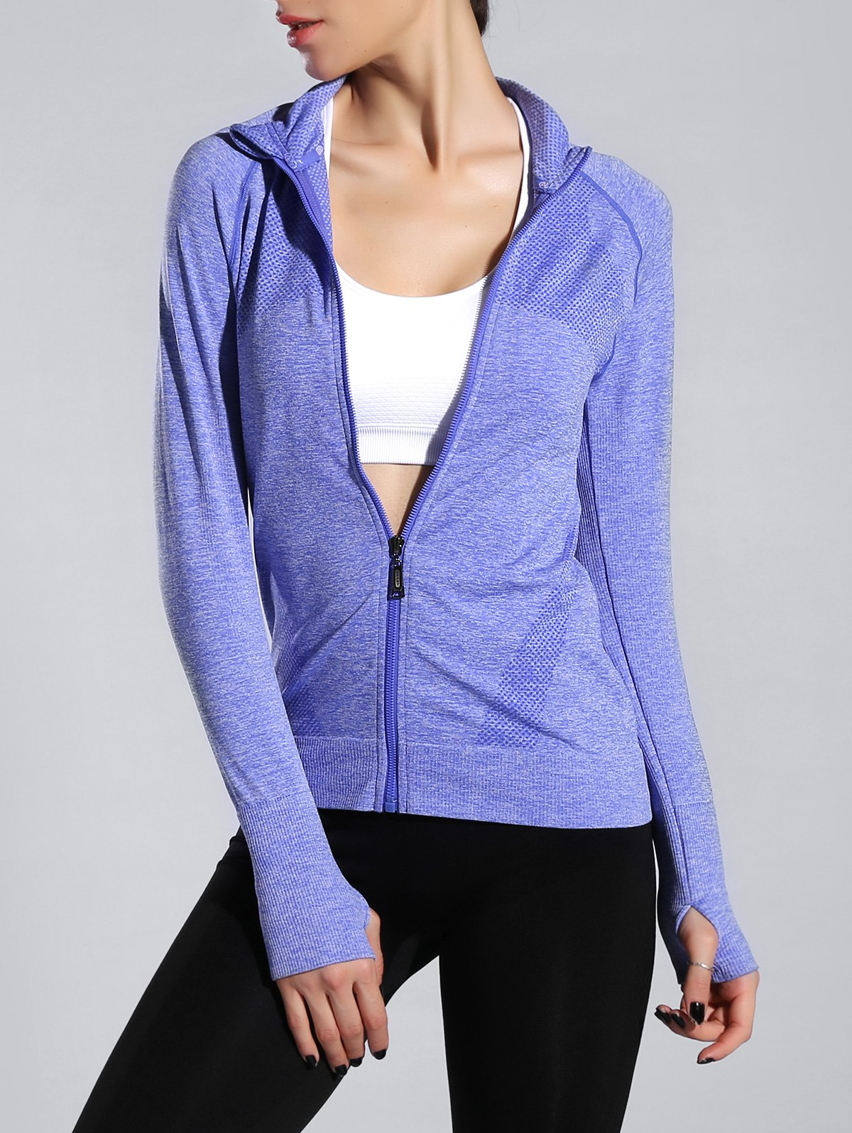 Espace Dye Zipper volant Slim Sporty Jacket
