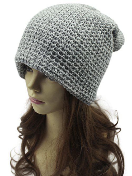 Fashion Casual Openwork Weaving Double-Deck Knit Beanie