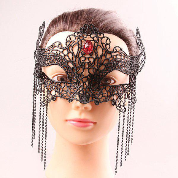 Store Mystical Half Face Lace Hollow Out Chains Zircon Masquerade Masks