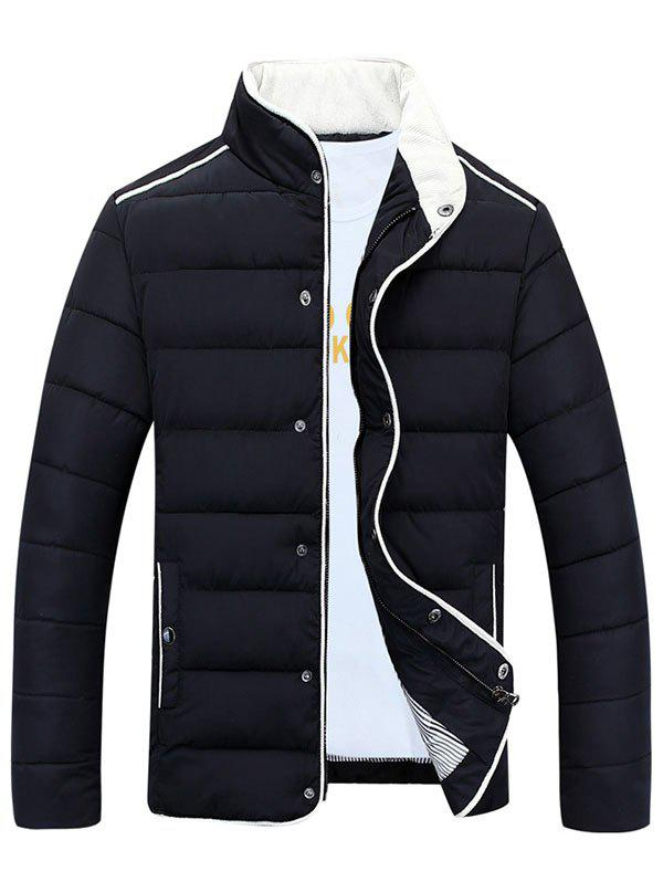 Shops Stand Collar Edging Zip-Up Padded Jacket