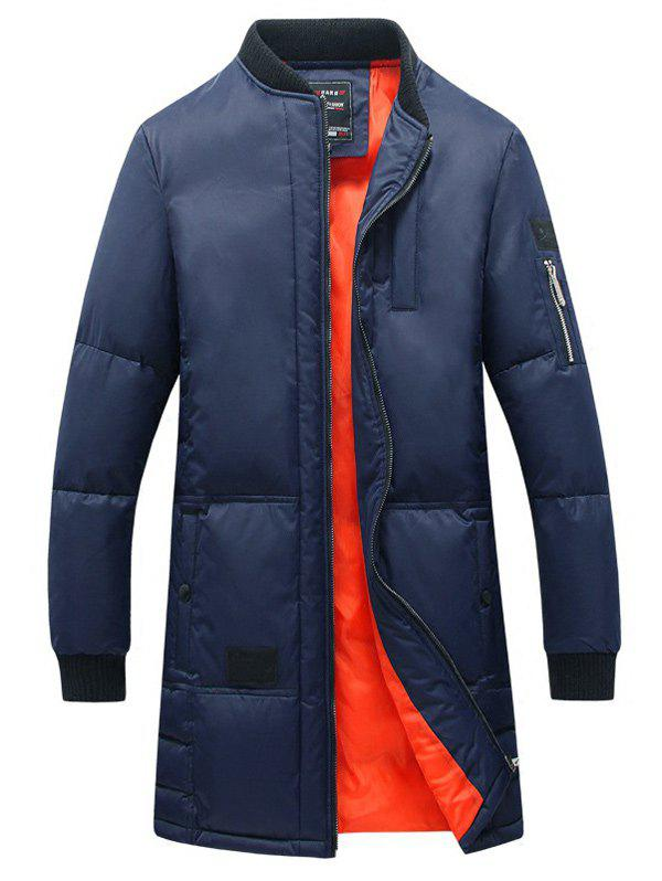 Outfits Breast Pocket Rib Cuff Zippered Quilted Coat