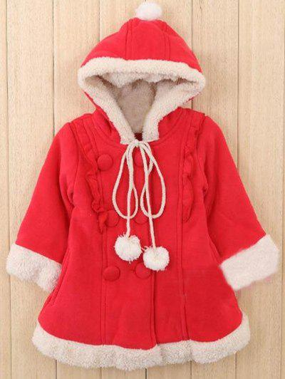 Trendy Kids Hooded Fleece Christmas Coat