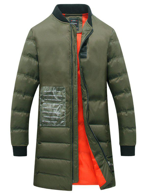 Patched Rib Cuff Zip Coat Up Quilted