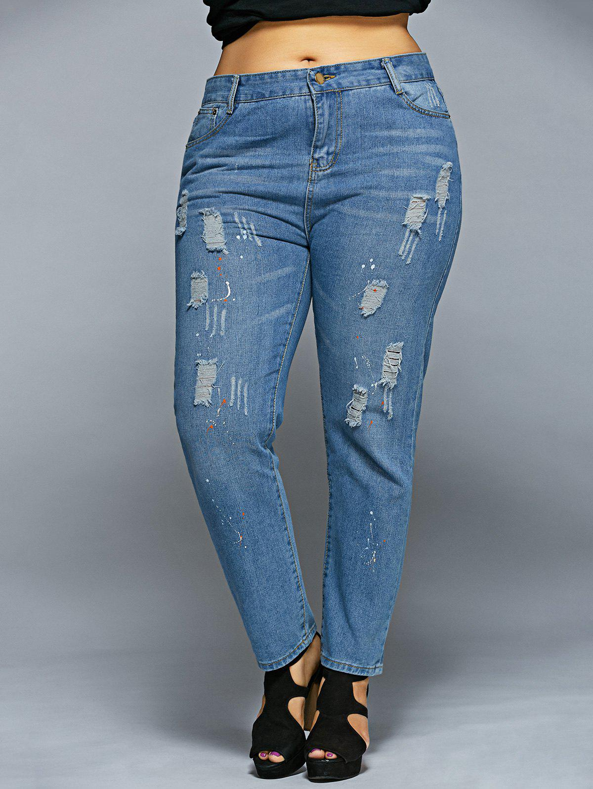 Image of Dots Ripped Jeans